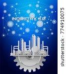 industry 4.0 concept image....   Shutterstock .eps vector #774910075