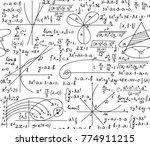 math scientific vector seamless ... | Shutterstock .eps vector #774911215