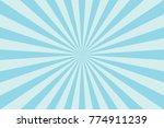 Blue Sunburst Pattern Abstract...