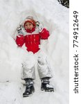boys playing in really big snow | Shutterstock . vector #774912649