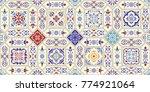 seamless ceramic tile with... | Shutterstock .eps vector #774921064