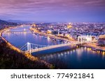 budapest cityscape in... | Shutterstock . vector #774921841