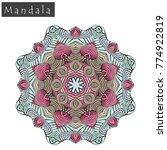 geometrical flower mandala sign.... | Shutterstock .eps vector #774922819