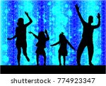 family silhouettes . abstract...   Shutterstock .eps vector #774923347