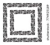 polynesian tattoo frame. vector ... | Shutterstock .eps vector #774925189