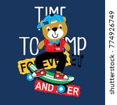 skater bear animal cartoon... | Shutterstock .eps vector #774926749