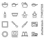 thin line icon set   cauldron ... | Shutterstock .eps vector #774927535