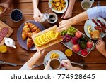 food  eating and family concept ... | Shutterstock . vector #774928645