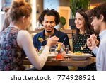 leisure and people concept  ... | Shutterstock . vector #774928921