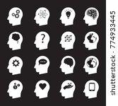man head mind thinking vector... | Shutterstock .eps vector #774933445