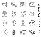 thin line icon set  ... | Shutterstock .eps vector #774937795