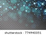 abstract shiny blue sparcles... | Shutterstock .eps vector #774940351