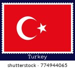 vector postage stamp of a... | Shutterstock .eps vector #774944065