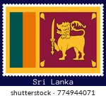 vector postage stamp of a... | Shutterstock .eps vector #774944071