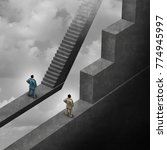 racial discrimination in... | Shutterstock . vector #774945997