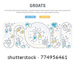 line illustration of groats.... | Shutterstock .eps vector #774956461