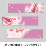 abstract banner template with... | Shutterstock .eps vector #774959524