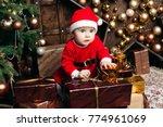 portrait of lovely baby girl... | Shutterstock . vector #774961069