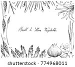 vegetable and herb ... | Shutterstock .eps vector #774968011