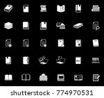 book icons set | Shutterstock .eps vector #774970531
