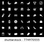 supermarket icons set | Shutterstock .eps vector #774970555