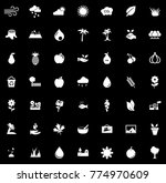 nature icons set | Shutterstock .eps vector #774970609