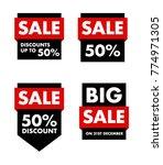 sale labels vector | Shutterstock .eps vector #774971305