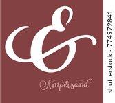 hand lettered flourish... | Shutterstock .eps vector #774972841