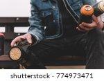 cropped view of street artist...   Shutterstock . vector #774973471