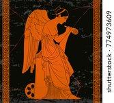 ancient greek goddess nemesis... | Shutterstock .eps vector #774973609