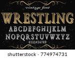font.alphabet.script.typeface... | Shutterstock .eps vector #774974731