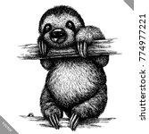 black and white engrave... | Shutterstock .eps vector #774977221