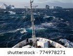 A Ship Rolling In Heavy Seas...
