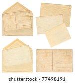 collection vintage envelopes...   Shutterstock . vector #77498191