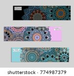 ethnic banners template with...   Shutterstock .eps vector #774987379