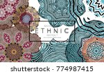 ethnic banners template with...   Shutterstock .eps vector #774987415