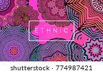 ethnic banners template with...   Shutterstock .eps vector #774987421