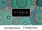ethnic banners template with...   Shutterstock .eps vector #774987451