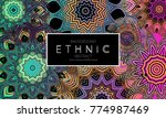 ethnic banners template with...   Shutterstock .eps vector #774987469