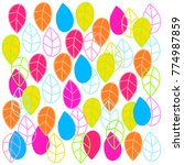 colorful leafs pattern   Shutterstock .eps vector #774987859