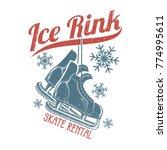 retro skates hang on the... | Shutterstock .eps vector #774995611