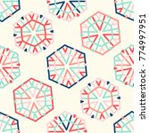 bright seamless pattern with...   Shutterstock .eps vector #774997951