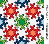 bright seamless pattern with...   Shutterstock .eps vector #774997969