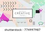 minimal universal banner... | Shutterstock .eps vector #774997987