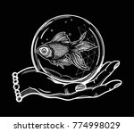 traditional tattoo flash hand... | Shutterstock .eps vector #774998029