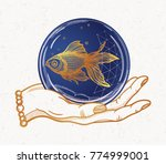 traditional tattoo flash hand... | Shutterstock .eps vector #774999001