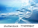 realistic pure water streams on ... | Shutterstock .eps vector #774999847
