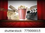 cinema concept 3d vector... | Shutterstock .eps vector #775000015