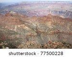 grand canyon south rim vista - stock photo