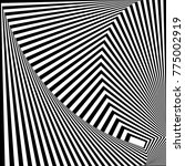 abstract black and white... | Shutterstock .eps vector #775002919